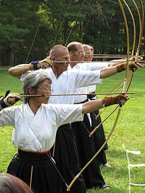 These Zen archers practice for self-mastery rather than to master the art of archery.