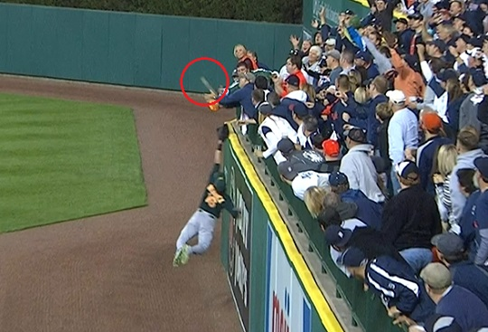 Victor Martinez fan interference