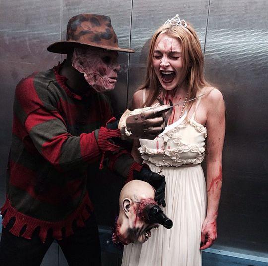 Lindsay-Lohan-Floyd-Mayweather-Halloween