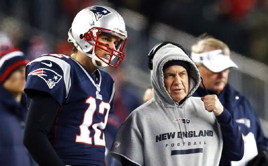Image result for images of bill belichick and Tom Brady