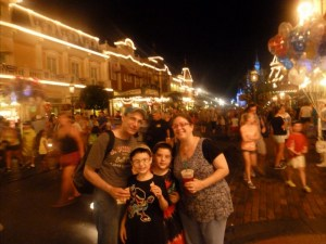 Family at the Magic Kingdom