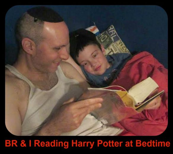 Reading Harry Potter With BR at Bedtime