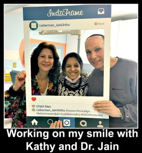 Smiling with Dr. Jain, courtesy of Invisalign