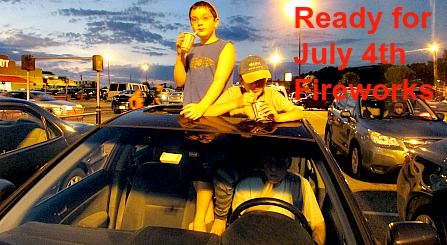 Boys ready for July 4th fireworks