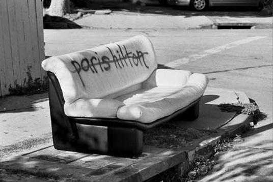 paris hilton sofa