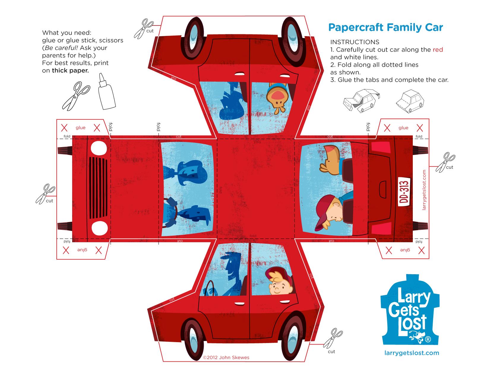 Larry Papercraft Car