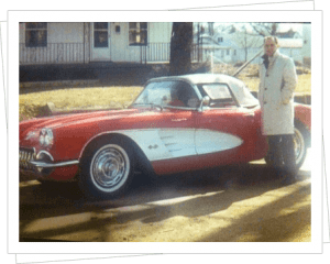 Larry Adamson and his Corvette