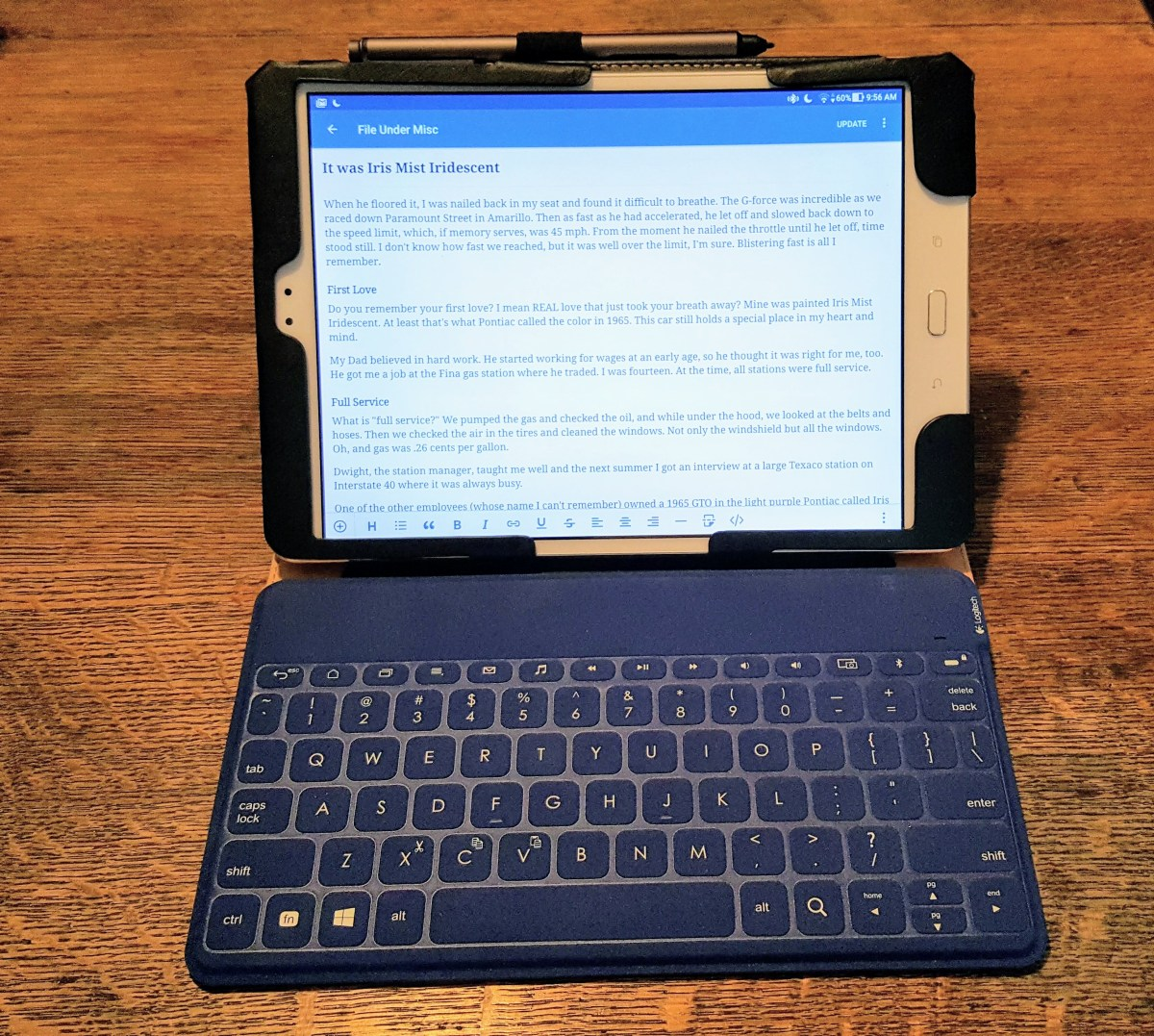 ASUS Tablet & Logitech Keyboard