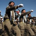 Armed Iranian  mullahs (Shiite clerics) march duri-SRC:http://headlinedigest.com/2013/09/iran-threatens-brutal-attacks-on-americans-and-the-obama-family/