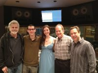 photo of Cal Arts friends Paul Novros, Greg Uhlmann, Alina Roitstein, David Roitstein and Larry Koonse