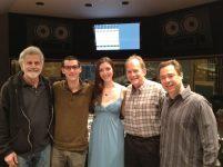 photo of Cal Arts friends Paul Novros, Greg Uhlmann, Alina Roitstein, David Roitstein and Larry Koonse