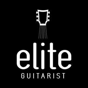 illustrated logo art for Elite Guitarist