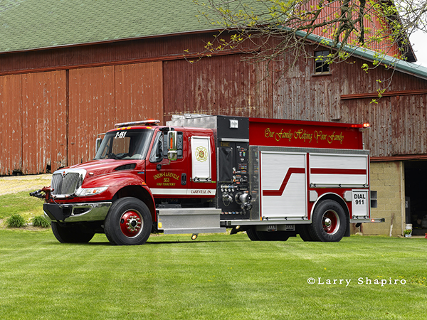 Rosenbauer America Maverick fire engine on an IHC chassis