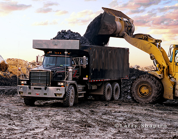 Western Star 6900 dump truck at coal mine