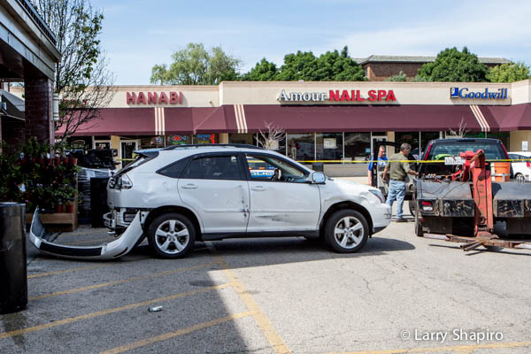 Lexus damaged after driving into store