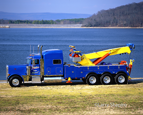 monster heavy wrecker tow truck beauty shot