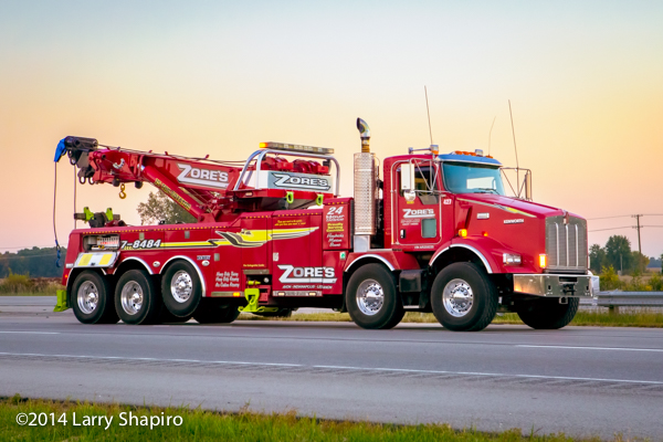 Century 75-ton rotator with 5-axle Kenworth chassis