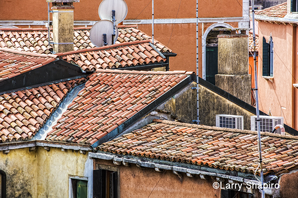 Spanish tile roof tops