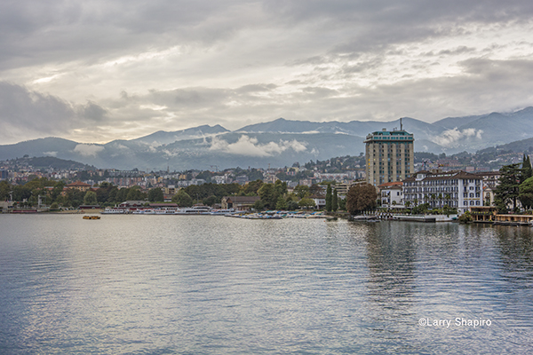 Lake Lugano i the town of Lugano Switzerland