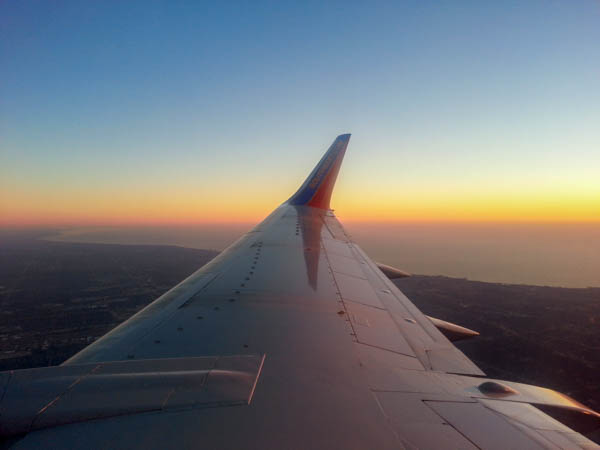 Southwest Airlines plane from the window seat