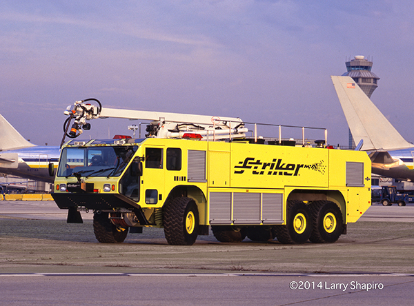 This prototype Oshkosh Striker 3000 was photographed at O'Hare Airport to create a library of images that Oshkosh could use for marketing purposes. Larry Shapiro photo