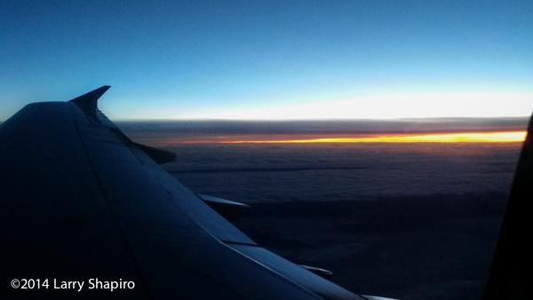 sunset from 35,000 feet