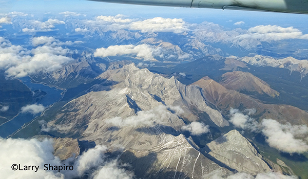 Canadian Rockies from the air