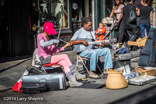 street musicians in The French Quarter in New Orleans