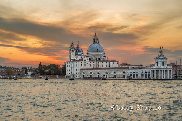 the city of Venice at sunset