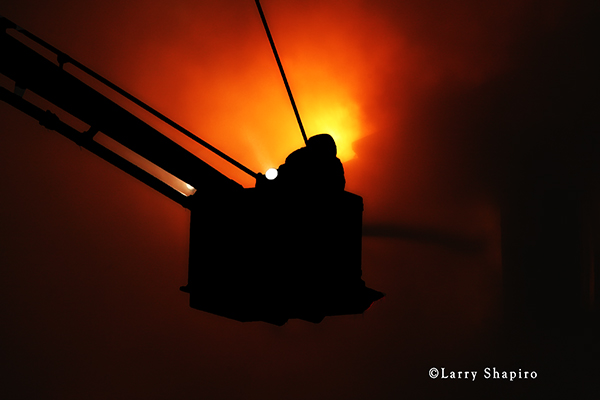 silhouette of fireman