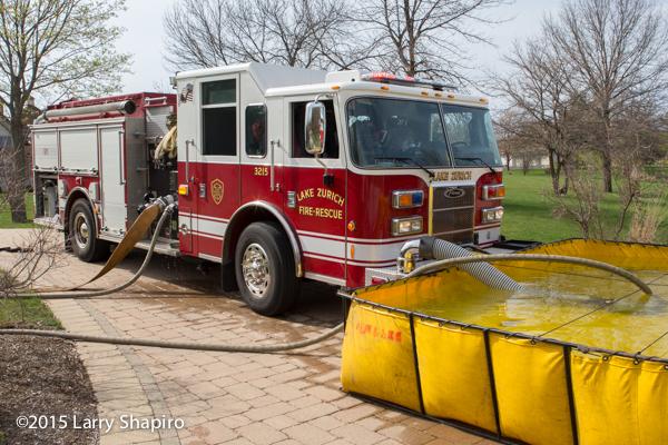Lake Zurich FD fire engine at work