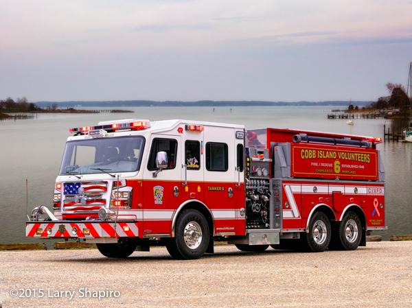 Cobb Island VFD fire truck