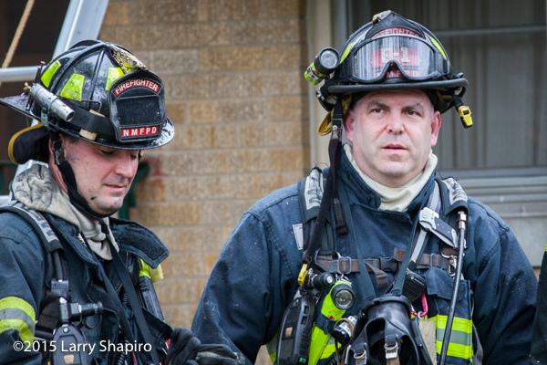 firefighter closeup after a fire