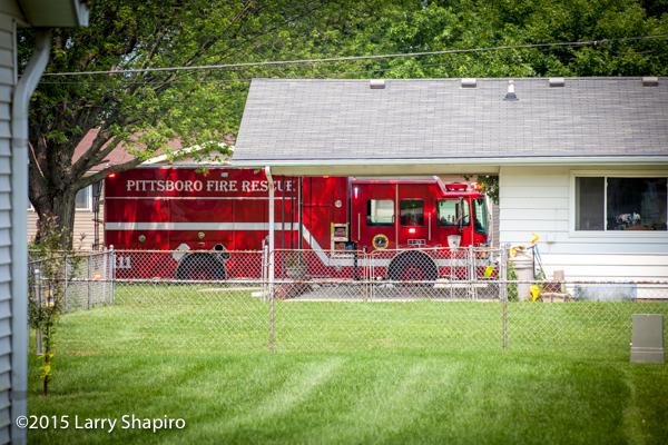 Pittsboro Fire Department engine