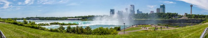 Panoramic image of Niagara Falls