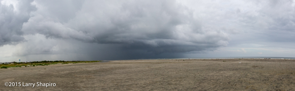 Storms along the South Carolina coast