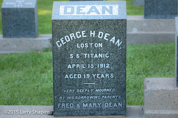 George H Dean perished on the RMS Titanoc