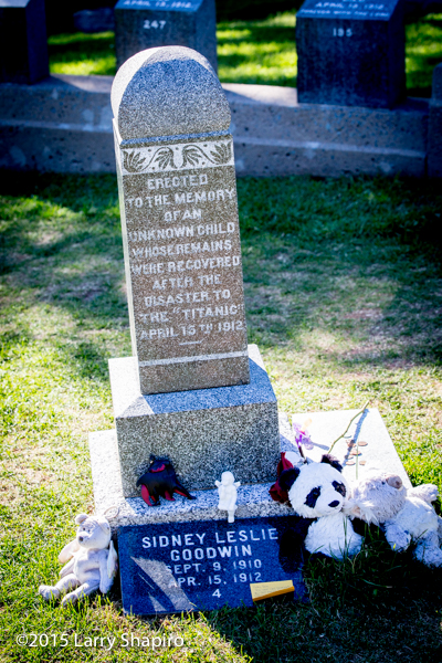 Sidney Leslie Goodwin A simple marker was two years old and perished on the RMS Titanic