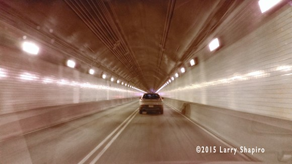 Driving through the Fort Pitt Tunnel in Pittsburgh