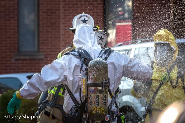 DCFD haz mat team decon Hazardous material scare in Washington DC