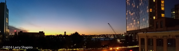 sunset panorama over the Hudson River