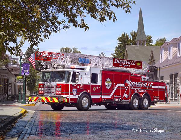 Zionsville FD Ladder 93 E-ONE CR137 137' aerial ladder