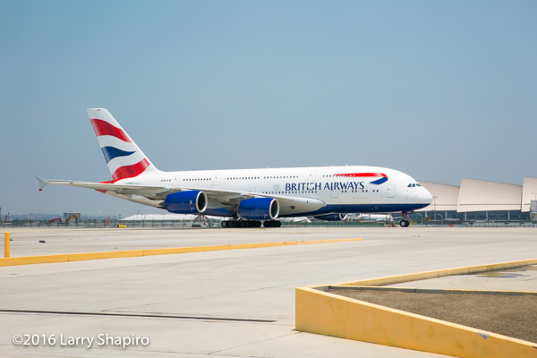 British Airways Airbus A380 at LAX