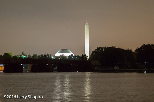 Washington and Jefferson Memorials from the Potomac River