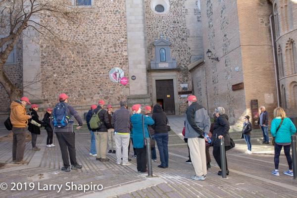 Am Shalom of Glencoe touring Toledo Spain