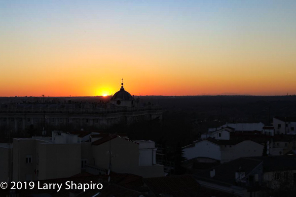 sunset in Madrid Spain