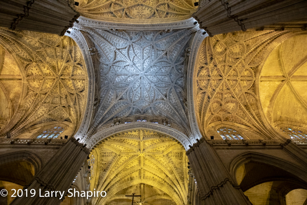 Great Cathedral of Seville Spain ceiling