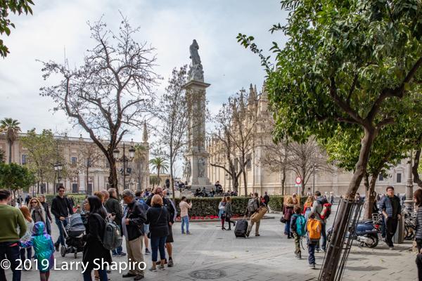 courtyard in Seville Spain