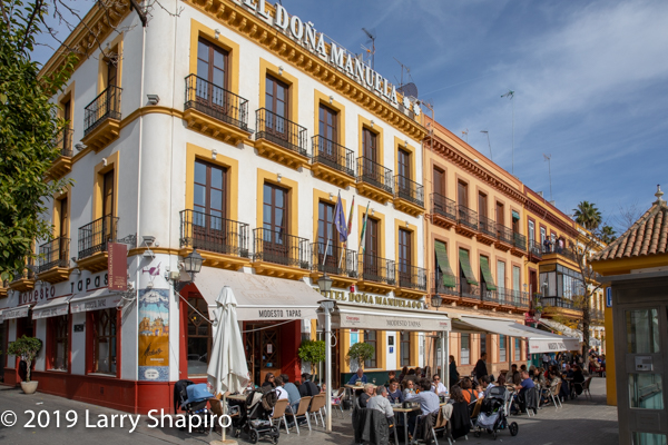 colorful buildings in Seville Spain