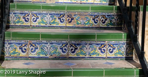 ceramic tile at the Alcazar Palace